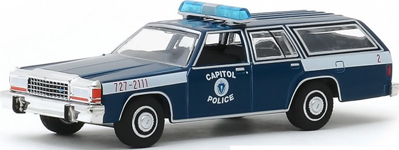 1:18 scale model Wisconsin State Police car license tag plates